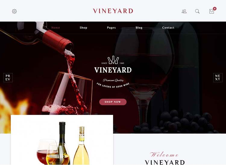 A top-notch winery theme for WordPress - perfect for vineyards!