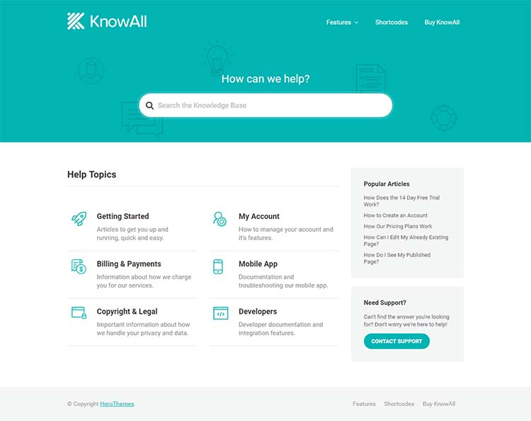 KnowAll Knowledge Base Theme for WordPress