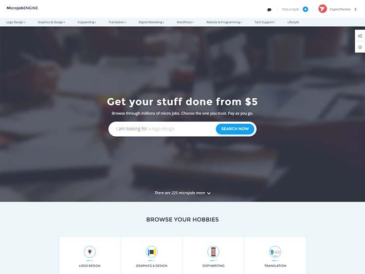 Best freelance mircojob marketplace theme for WordPress
