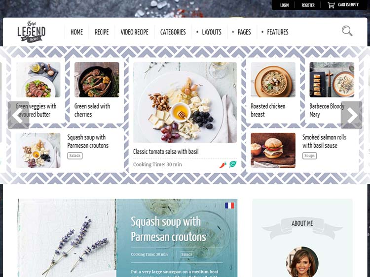 Neptune Theme for Food & Recipe Bloggers