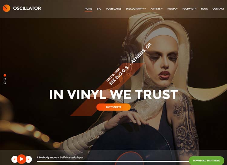 Best band theme for WordPress