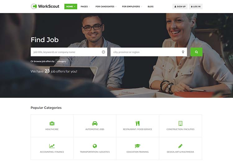 One the best WordPress job board and employment classifieds themes