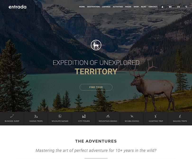 An excellent retina-ready & responsive tourist agency and booking app theme for WordPress