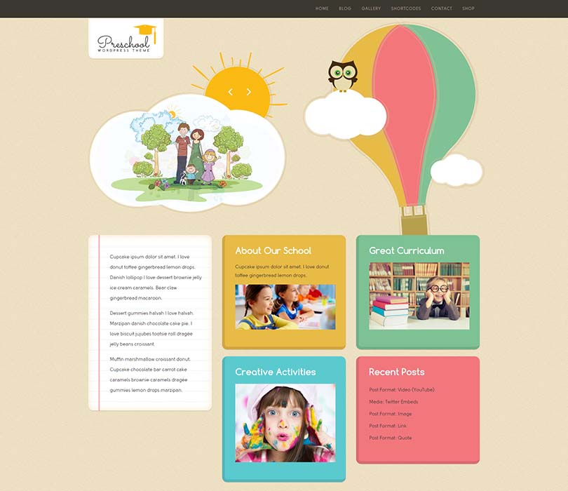 Best daycare theme for WordPress