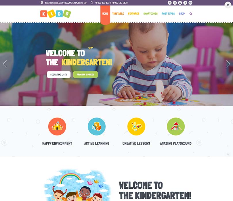 Best Early Education WordPress Theme