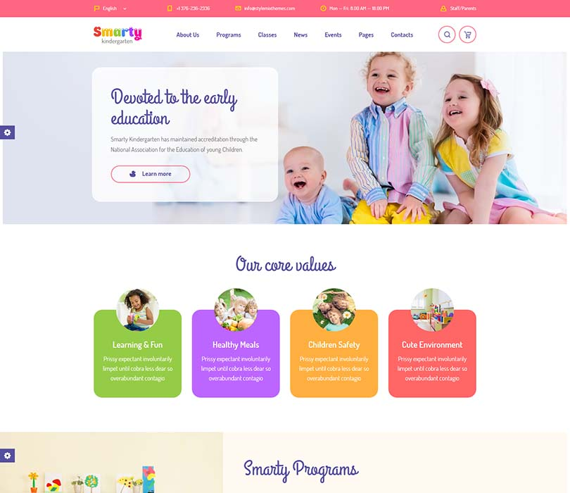 Best selling WordPress kindergarten theme