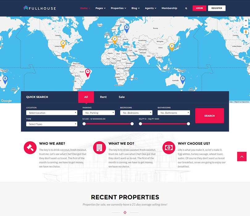 Yet another excellent property management theme for WordPress