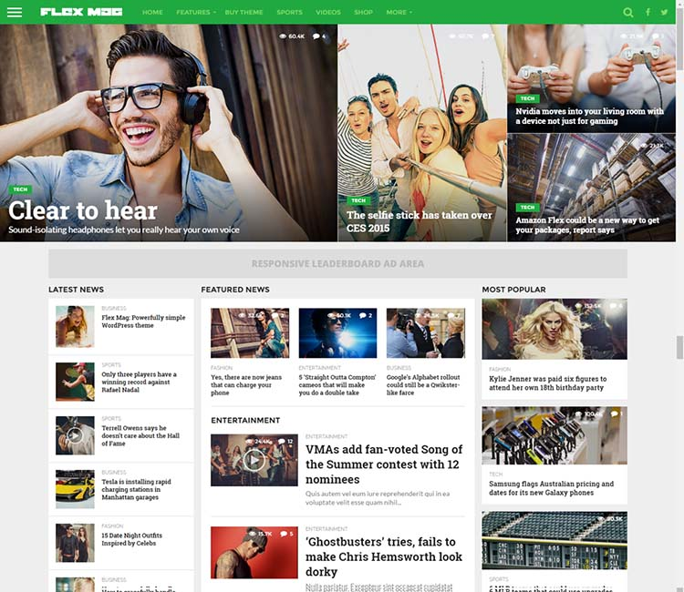 Flexmag, the best WordPress tech magazine theme