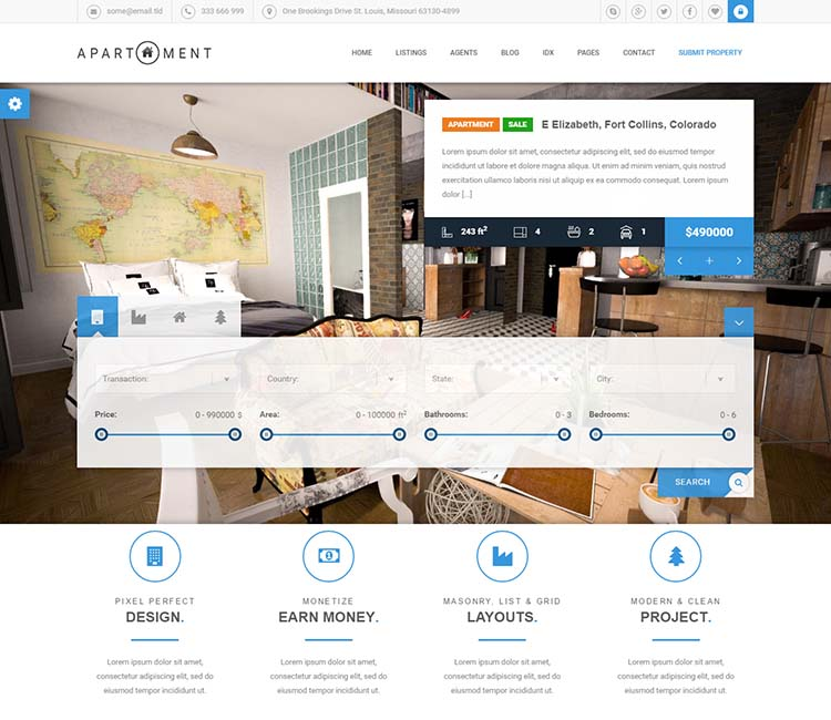 Building & Apartment Management theme for WordPress