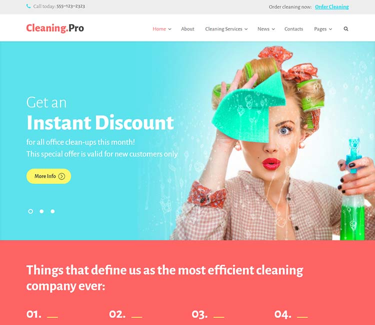 8 Best Cleaning Services Wordpress Themes For 2019 Siteturner