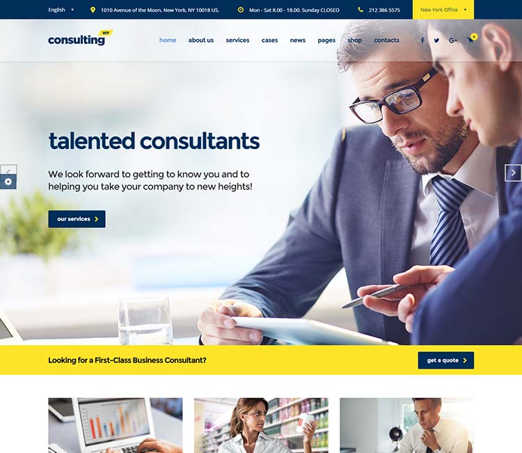 Consulting, one of our favorite consulting and finance WordPress themes