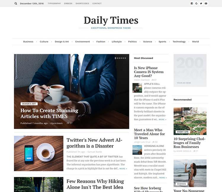 11+ Best WordPress Newspaper Themes for 2019 - Siteturner