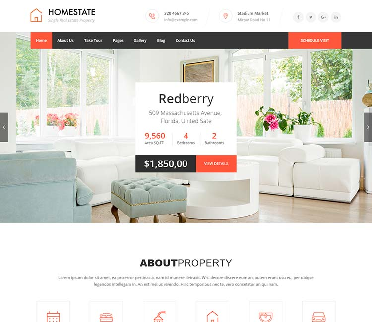 Housing Rental and Apartment Rental theme for WordPress