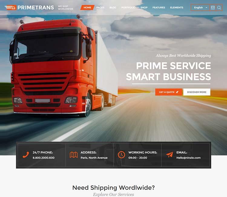 Just Another Wordpress Com Site: PrimeTrans Premium WordPress Theme Just Another WordPress