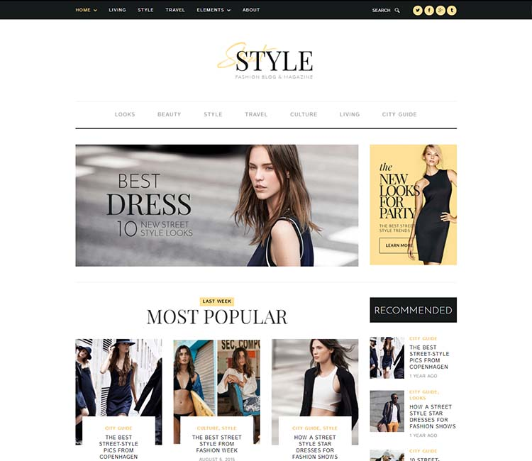 10 Best Wordpress Fashion Style Magazine Themes 2018 Siteturner