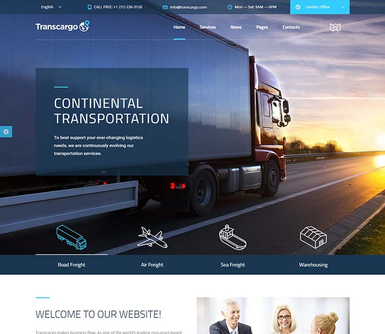 11+ Best WordPress Logistics & Transport Themes for 2019