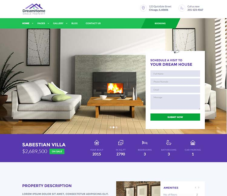 WordPress single property theme for apartment and villa rentals