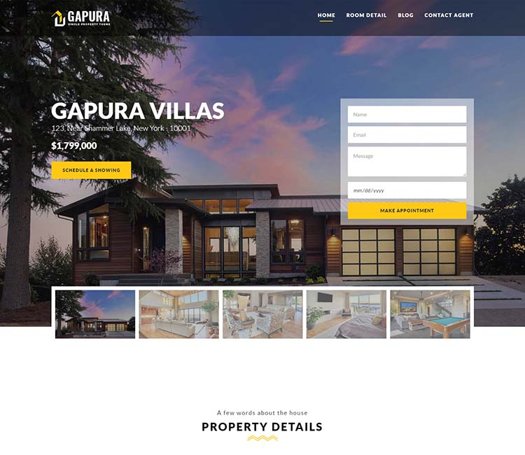 Single-property WordPress theme
