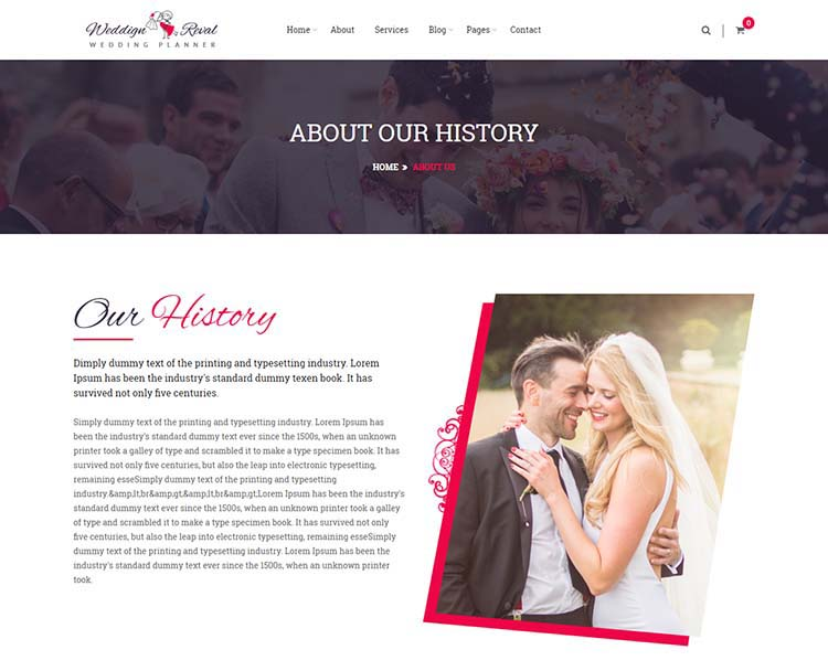 8 best wedding planner wordpress themes for 2018 siteturner wedding reval is a wordpress wedding planner an agency theme with two homepage variations a lovely artful design and a page builder for creating and junglespirit Image collections