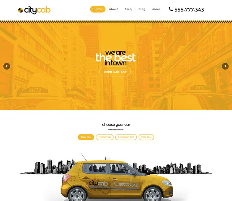 The best taxi company theme for WordPress