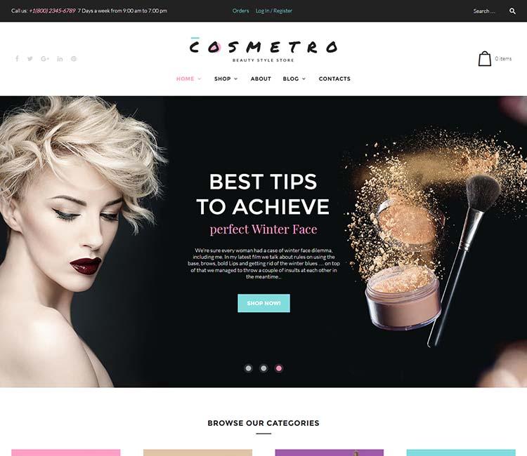 Our favorite WordPress cosmetics theme