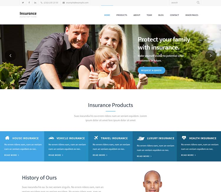 8+ Best WordPress Insurance Agency Themes for 2019 - Siteturner