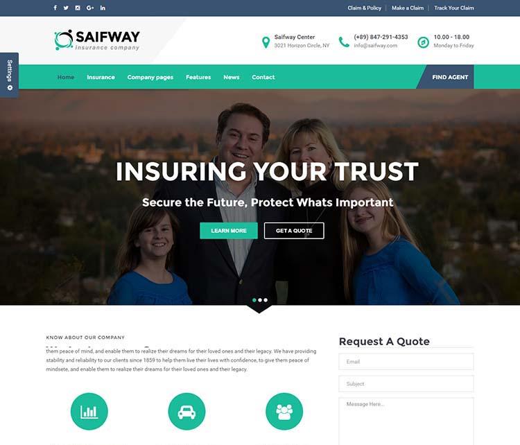 8+ Best WordPress Insurance Agency Themes For 2018