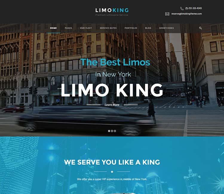 Our favorite WordPress limo service theme
