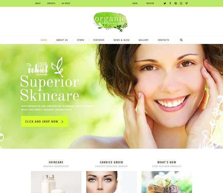 organic skin care websites