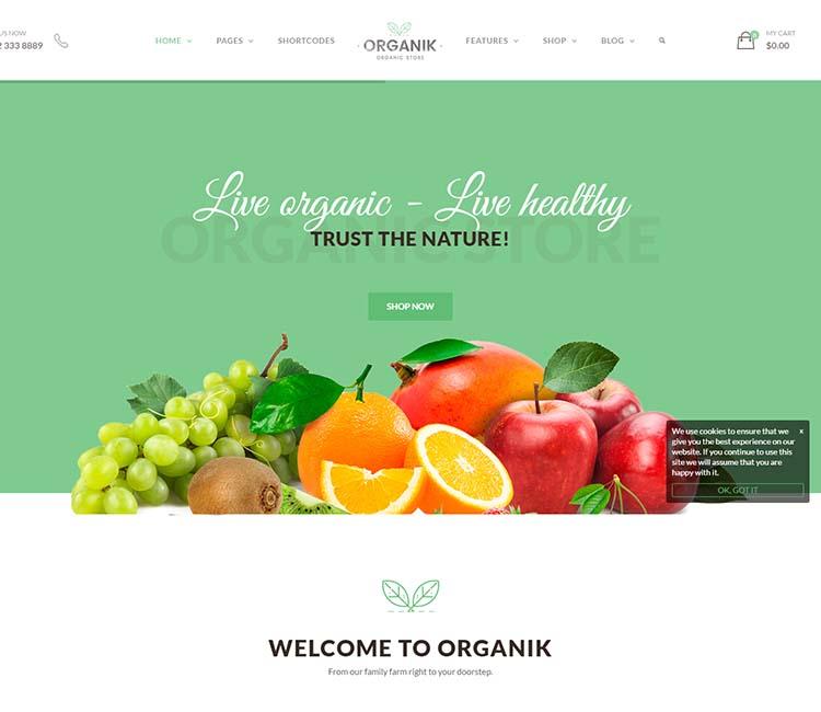 11 Best Wordpress Organic Food Farm Themes 2020 Siteturner