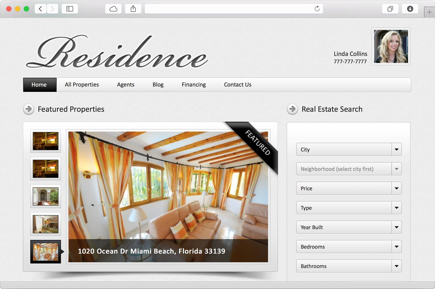 residence wordpress real estate theme