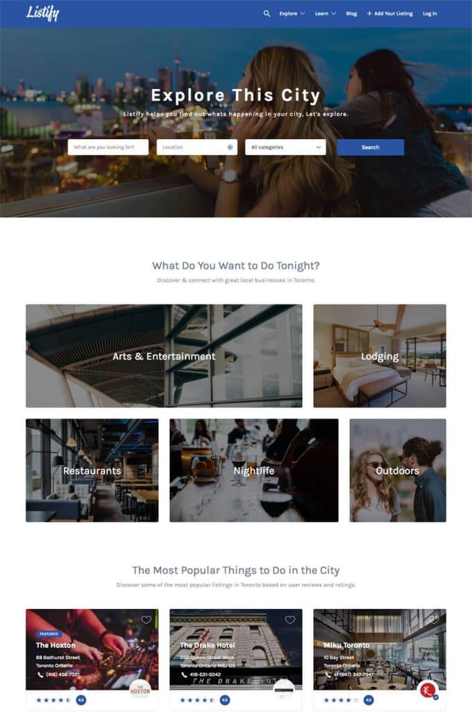 WordPress top directory themes