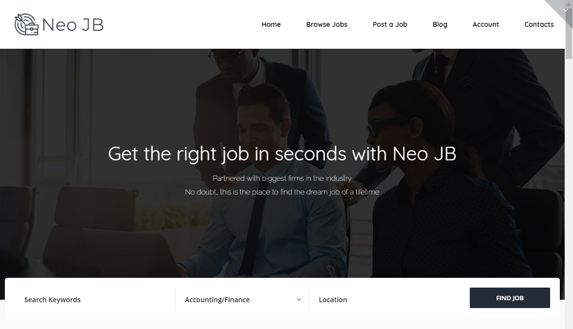 neojb wordpress theme