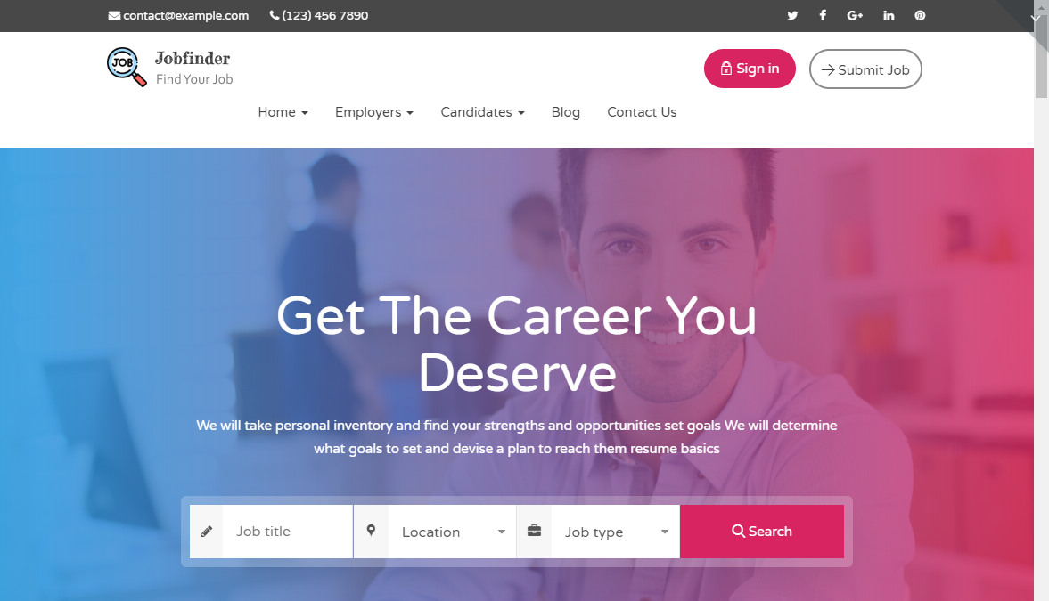jobfinder wordpress theme