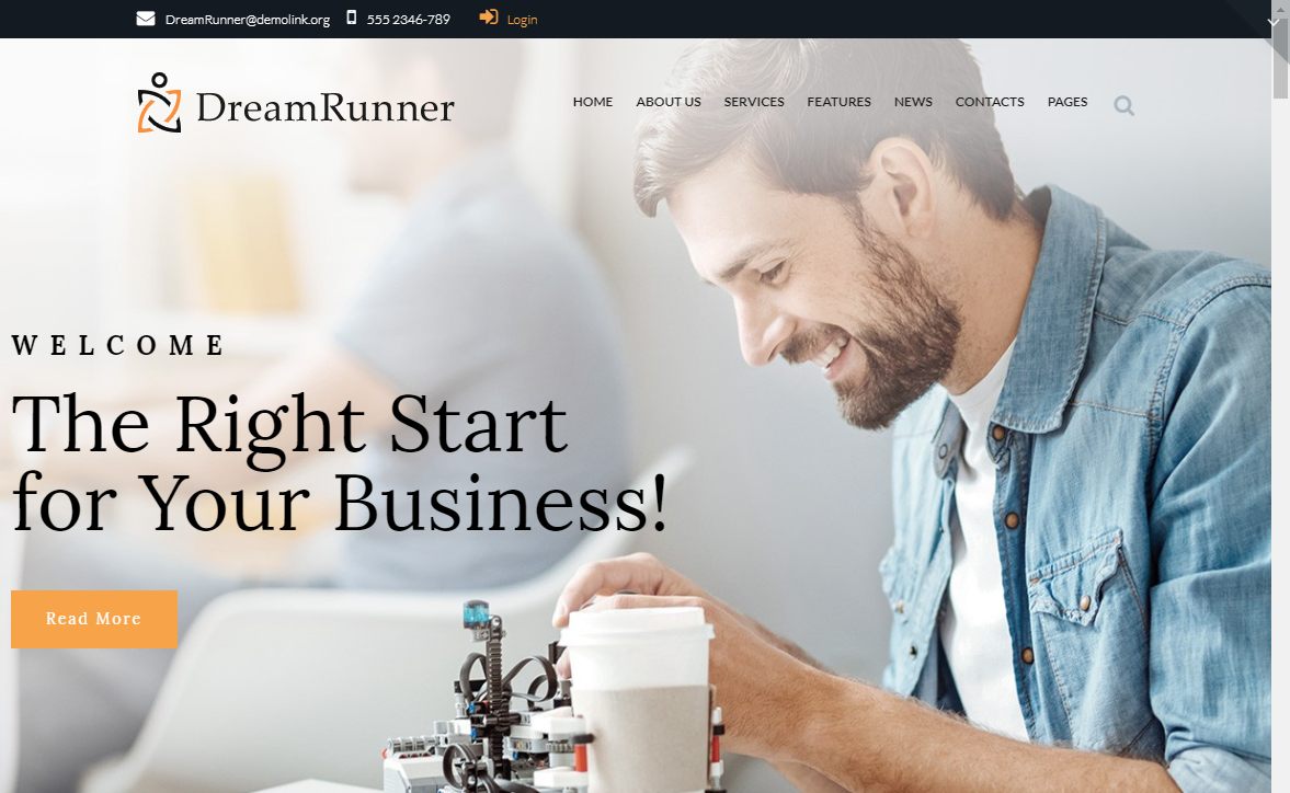 dreamrunner wordpress theme