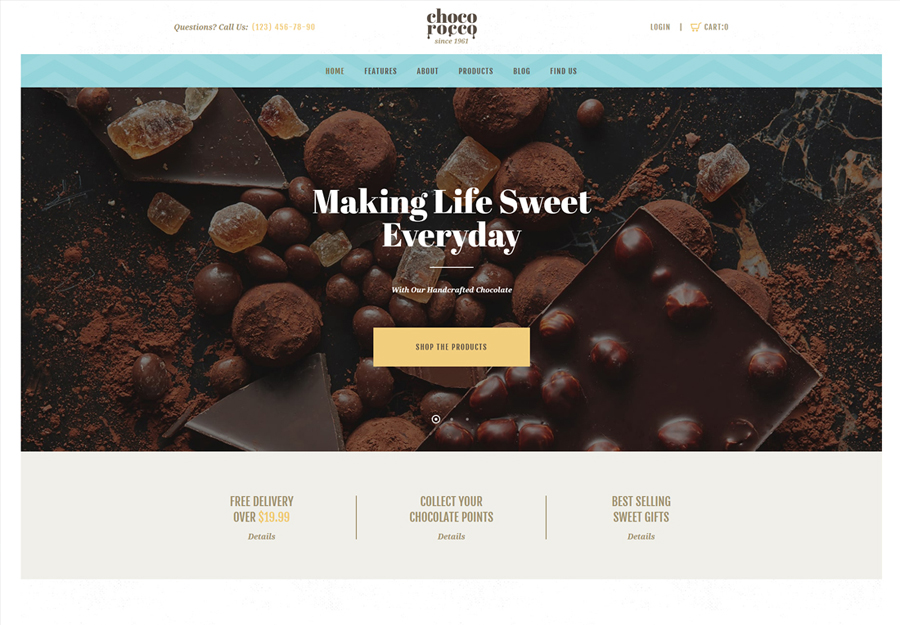 ChocoRocco | Chocolate Company WordPress Theme