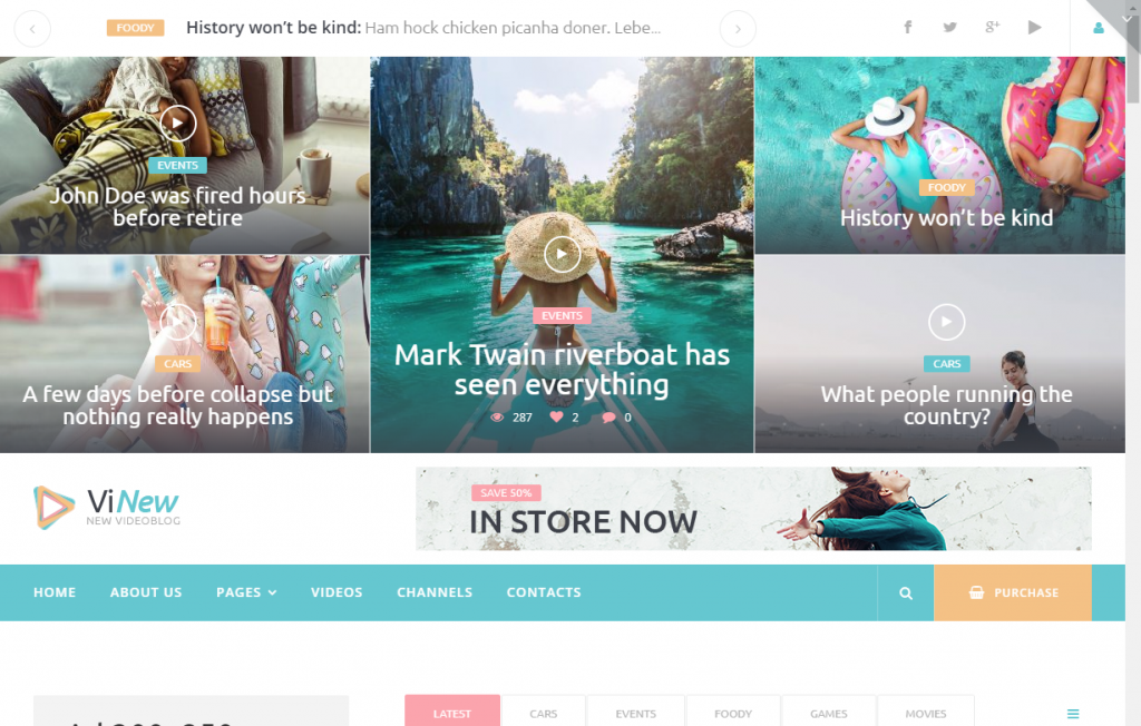 vinews wordpress theme