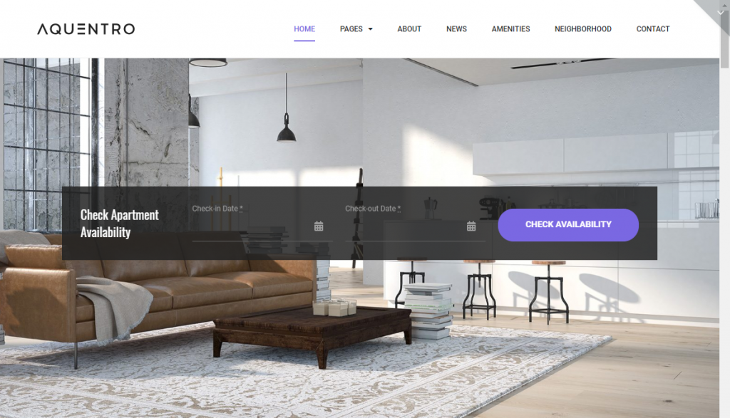 aquentro wordpress theme