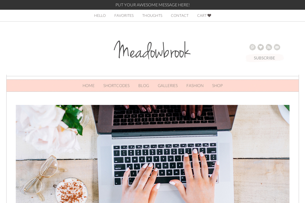 meadowbrook theme for feminine sites