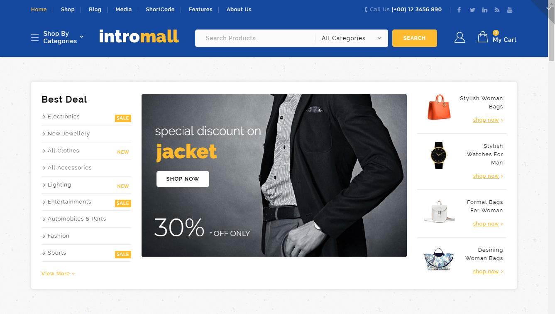 intromall marketplace theme for wordpress