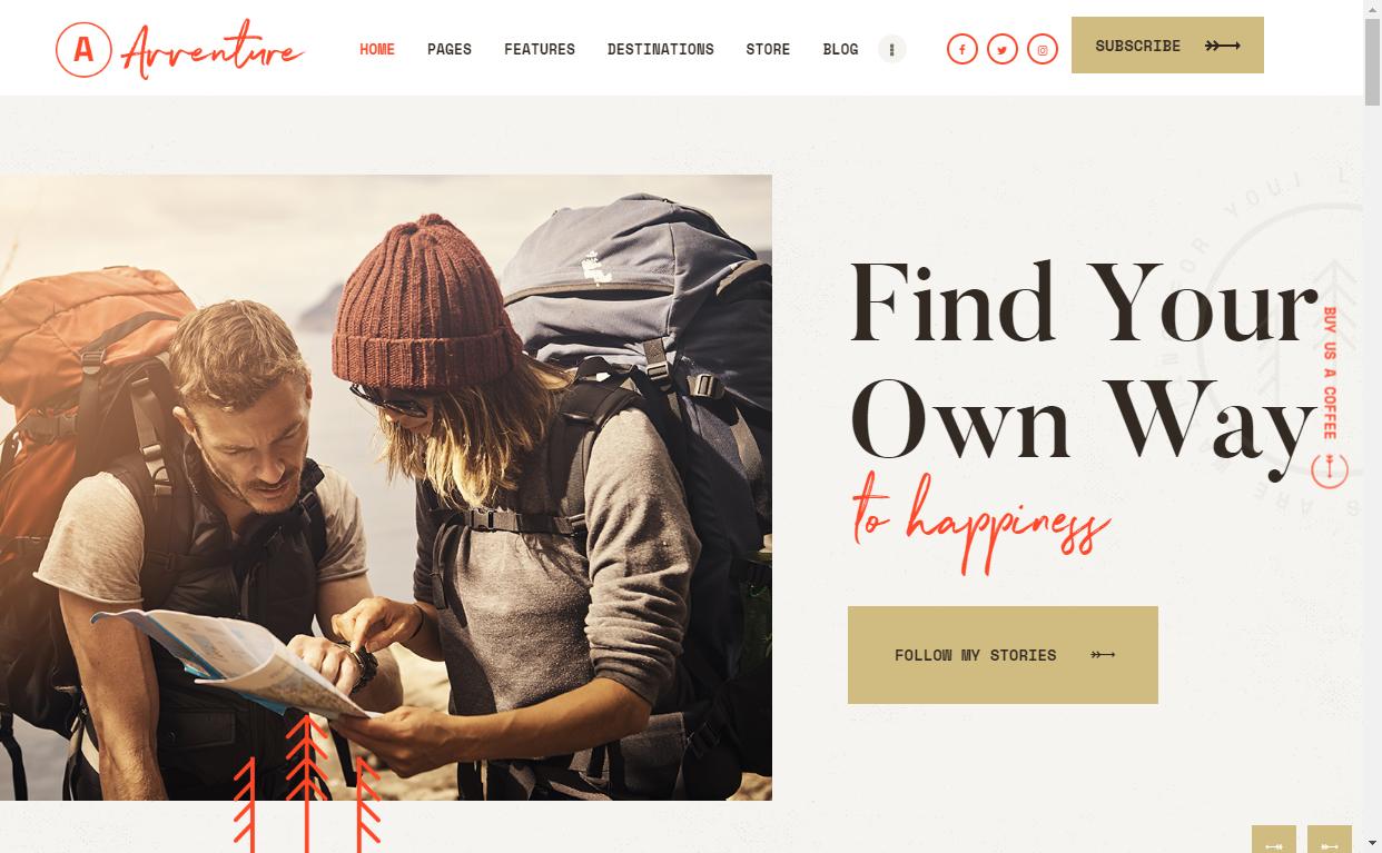 avventure wordpress travel blog theme