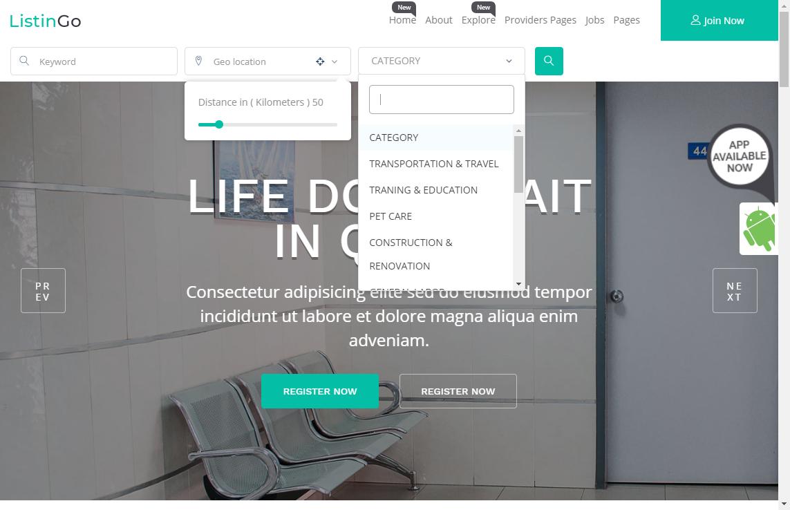 listingo wordpress business directory theme