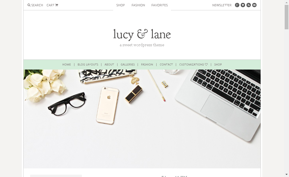lucy and lane fashion blogger wordpress theme