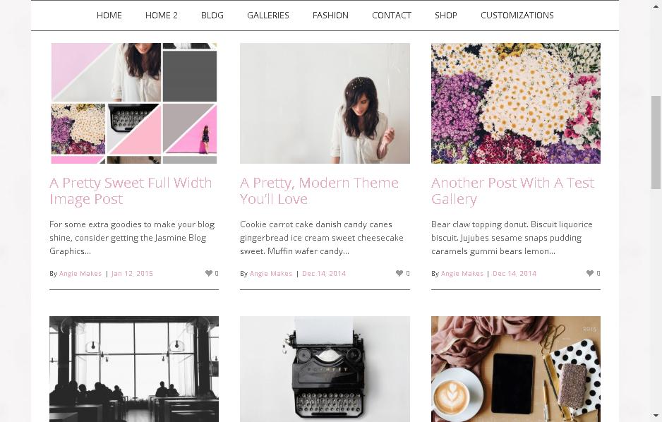 jasmine wordpress fashion blogger theme