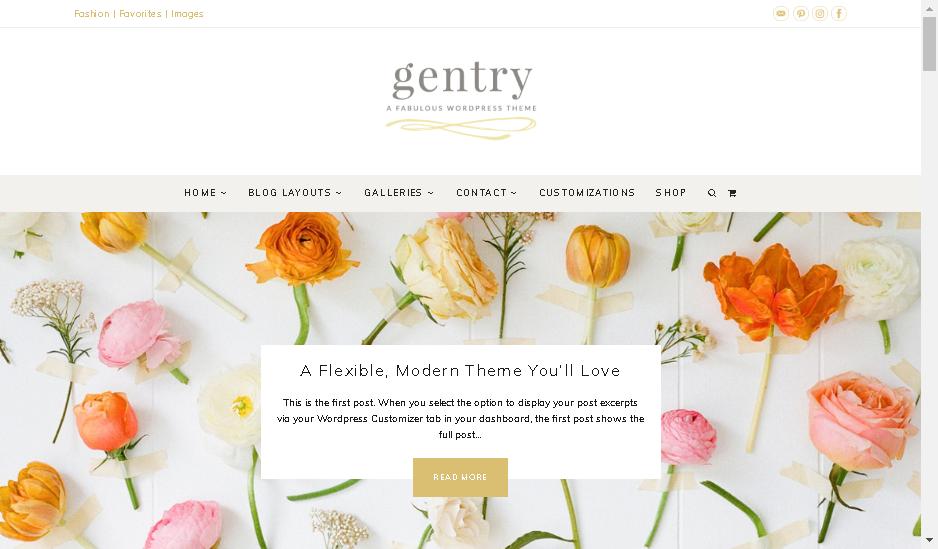 gentry wordpress feminine theme