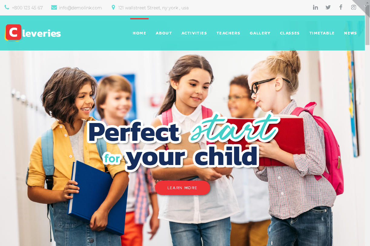 cleveries wordpress preschool theme