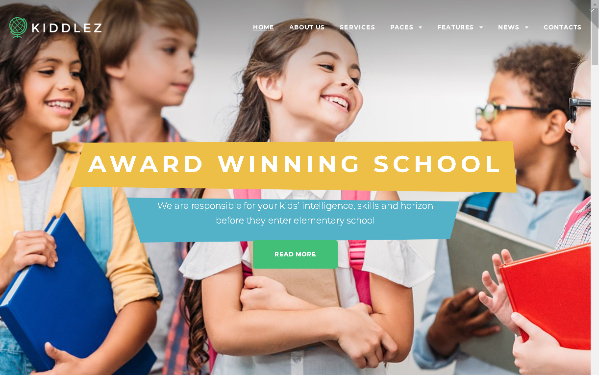 kiddlez wordpress preschool theme