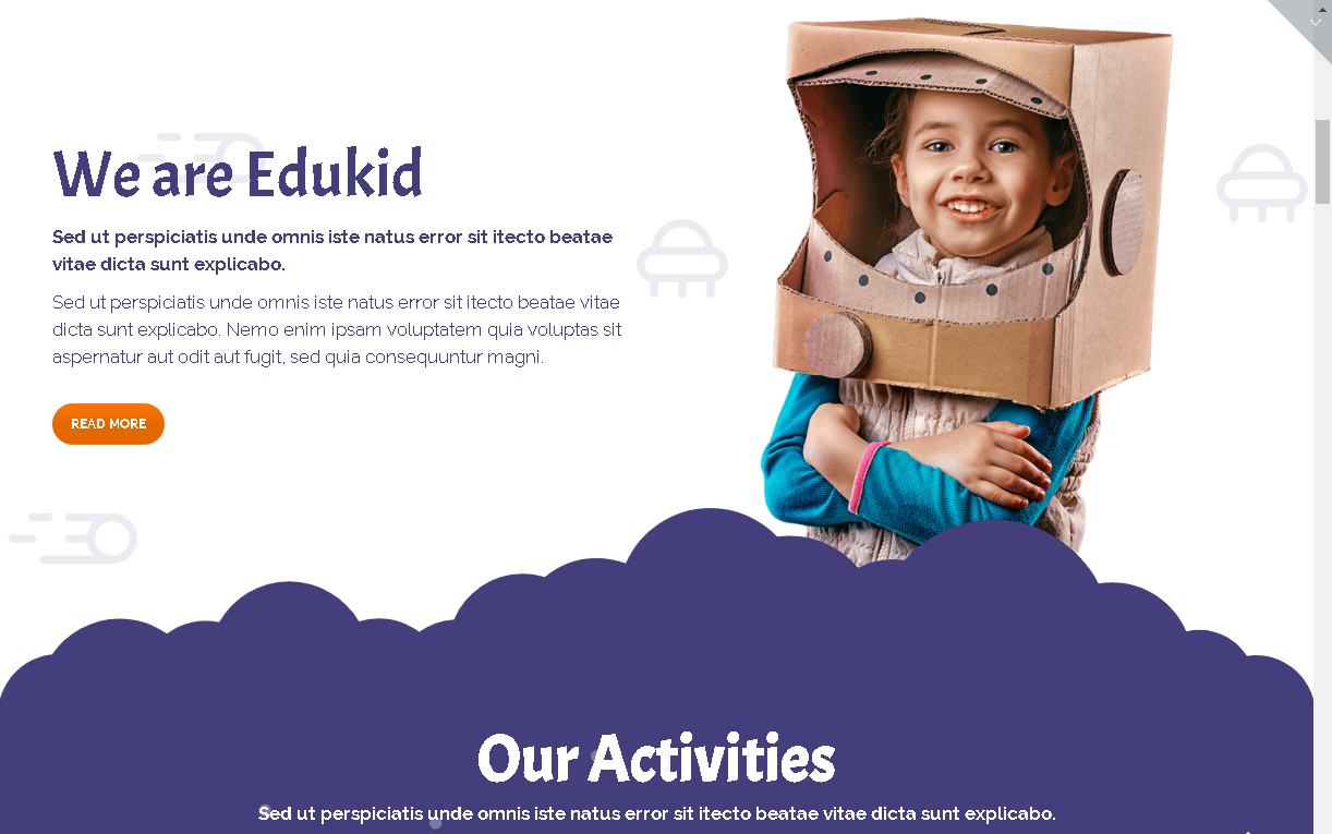 edukid wordpress theme for preschools
