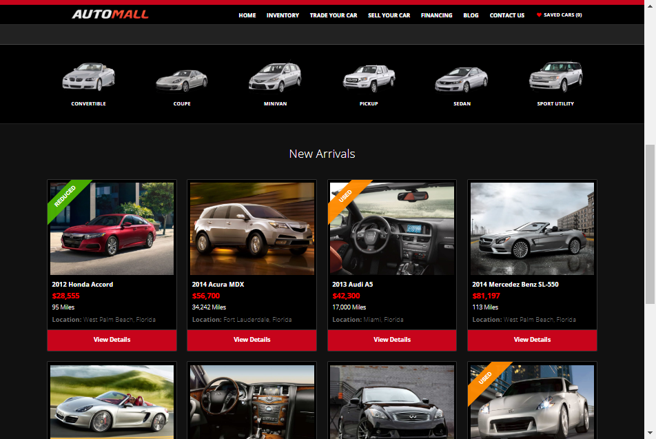 automall theme for auto dealers