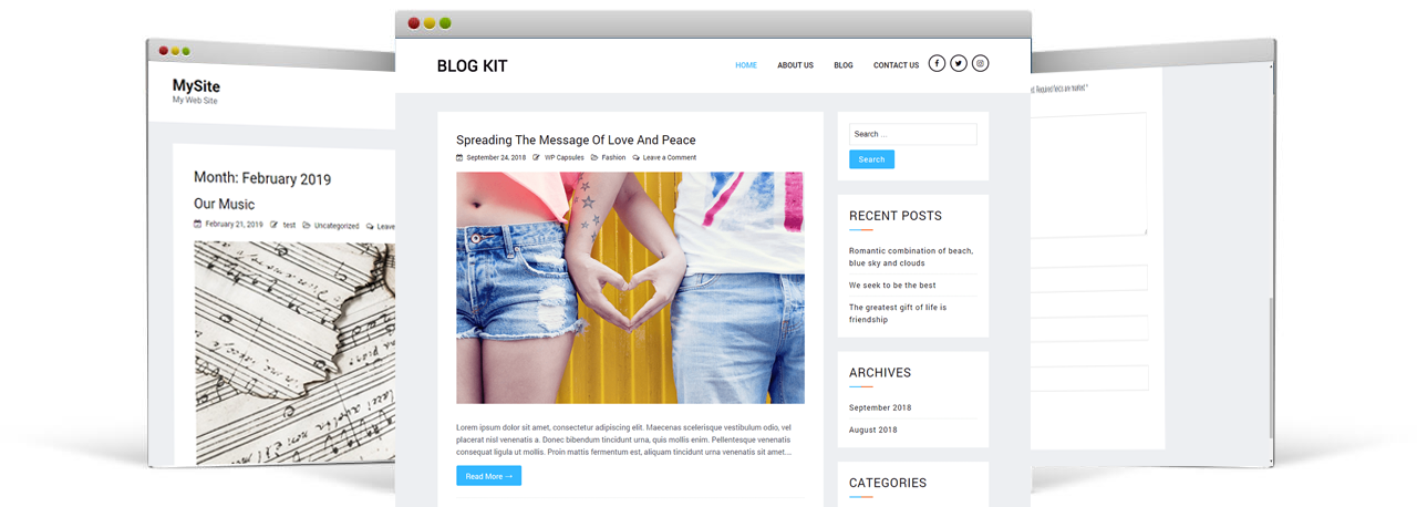 Blog Kit WordPress Theme